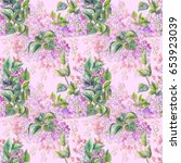 spring print for fabric.... | Shutterstock . vector #653923039
