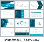 business presentation design...   Shutterstock .eps vector #653923369