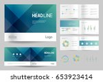 business brochure design... | Shutterstock .eps vector #653923414