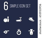 set of 6 fitness icons set...   Shutterstock .eps vector #653933956