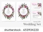 vector set of wedding templates ... | Shutterstock .eps vector #653934220
