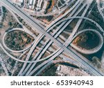 elevated expressway. the curve...   Shutterstock . vector #653940943