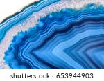 amazing blue agate crystal... | Shutterstock . vector #653944903