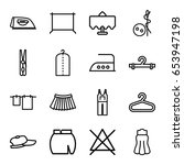 cloth icons set. set of 16... | Shutterstock .eps vector #653947198