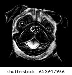 black and white portrait sketch ... | Shutterstock . vector #653947966
