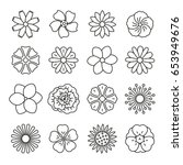 Flowers  Thin Monochrome Icon...