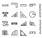 ruler icons set. set of 16... | Shutterstock .eps vector #653950990