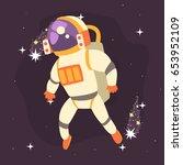 astronaut in space suit working ... | Shutterstock .eps vector #653952109