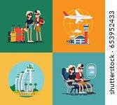 lovely set of vector concept... | Shutterstock .eps vector #653952433