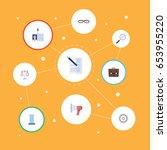 flat id card  libra ... | Shutterstock .eps vector #653955220
