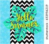 hello summer background | Shutterstock .eps vector #653956219