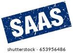 square grunge blue saas stamp | Shutterstock .eps vector #653956486