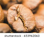 close up shot of coffee beans | Shutterstock . vector #653962063