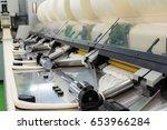 industrial textile factory ... | Shutterstock . vector #653966284
