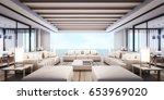 3d rendering beach villa... | Shutterstock . vector #653969020