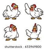 chicken character | Shutterstock . vector #653969800