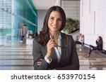 new charming employee... | Shutterstock . vector #653970154