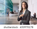 management staff member with... | Shutterstock . vector #653970178