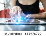 business and technoloy concept. ... | Shutterstock . vector #653976730
