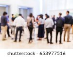 abstract blur group of people... | Shutterstock . vector #653977516