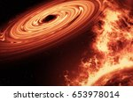 background of space with field... | Shutterstock . vector #653978014