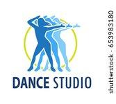 dance logo for dance school ... | Shutterstock .eps vector #653983180