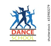 dance logo for dance school ... | Shutterstock .eps vector #653983279