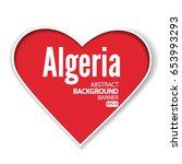 i love algeria  vector eps 10...   Shutterstock .eps vector #653993293