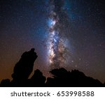 rocks and stars in tenerife    Shutterstock . vector #653998588