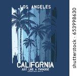 tee print vector design with... | Shutterstock .eps vector #653998630