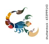 scorpio zodiac sign  vector... | Shutterstock .eps vector #653999143
