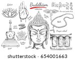 buddhism collection....   Shutterstock .eps vector #654001663