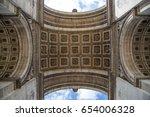 The Arc De Triomphe In Paris A...