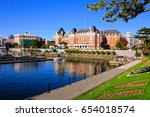 view of the beautiful harbor of ... | Shutterstock . vector #654018574