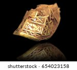 Stock photo largest hoard of anglo saxon gold ever found digital edit with reflection 654023158