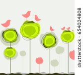 abstract colorful vector... | Shutterstock .eps vector #654024808
