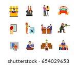 activity icon set | Shutterstock .eps vector #654029653