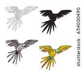 vector illustration. a flying... | Shutterstock .eps vector #654030490