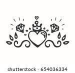 decorative element for design | Shutterstock .eps vector #654036334