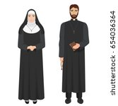 catholic priest and nun....