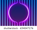 neon lines background with... | Shutterstock .eps vector #654047176