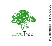 love tree. eco logo of a green... | Shutterstock .eps vector #654047800