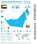 united arab emirates info... | Shutterstock .eps vector #654048010