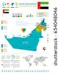 united arab emirates info...   Shutterstock .eps vector #654048046