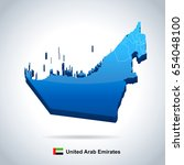 united arab emirates map and... | Shutterstock .eps vector #654048100