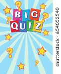 big quiz poster leaflet | Shutterstock .eps vector #654052540