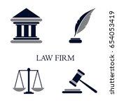 symbol of law and justice.... | Shutterstock .eps vector #654053419