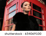fashion outdoor photo of...   Shutterstock . vector #654069100