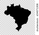 brazil map isolated on... | Shutterstock .eps vector #654071308