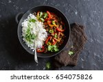 Spicy Beef With Vegetables And...